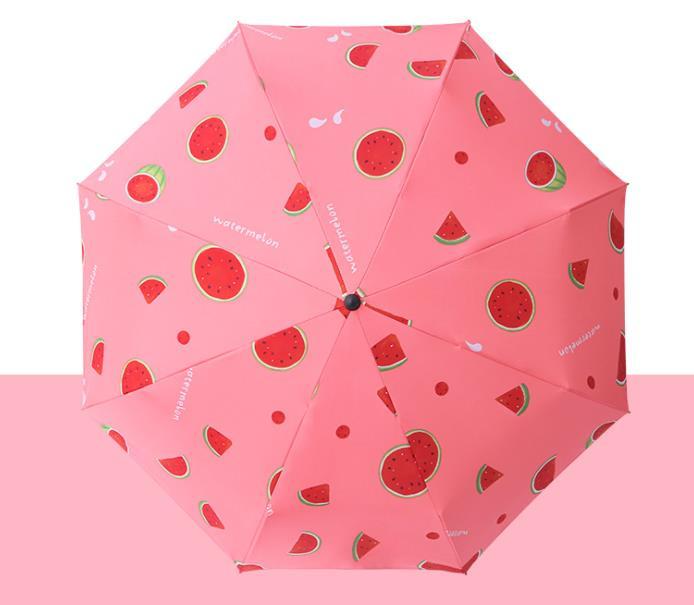 防晒伞定做厂家 水果系遮阳防晒黑胶晴雨伞