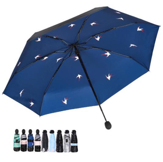 定做防晒伞 迷你黑胶太阳伞 五折迷你伞